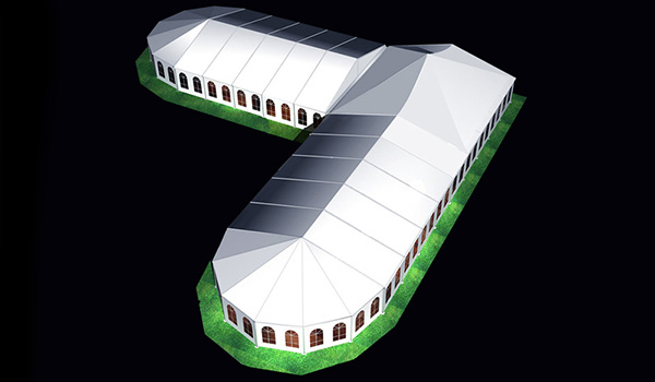 20x50m - SHELTER Bellend Tent - Oval Structures - Wedding Party Marquee - High Peak Tent - MPT--02