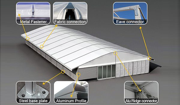 Large Event Tent - Commercial Marquee - Temporary Warehouse Building - Outdoor Wedding Hall - Arch Tent-1