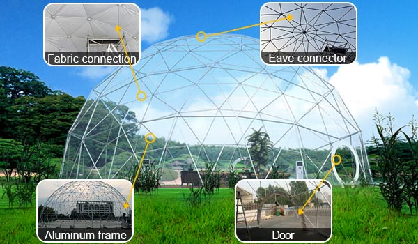 SHELTER Geodome Tent - Event Domes - Half Dome Structures - Grodesic-Dome-Tent-1