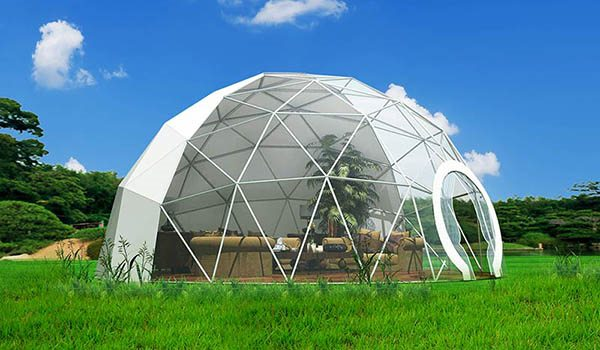 dia.10m - SHELTER Geodome Tent - Event Domes - Half Dome Structures - Geodesic-Dome-Tent-