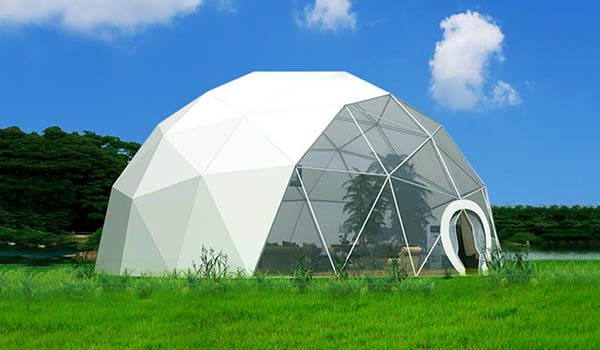 dia.15m - SHELTER Geodome Tent - Event Domes - Half Dome Structures - Geodesic-Dome-Tent--02
