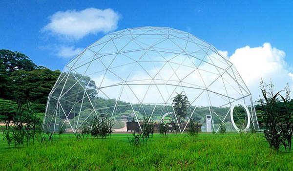 dia.20m - SHELTER Geodome Tent - Event Domes - Half Dome Structures - Geodesic-Dome-