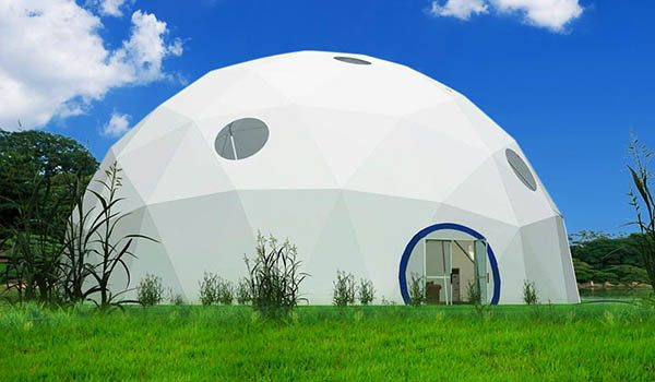 dia.25m - SHELTER Geodome Tent - Event Domes - Half Dome Structures - Geodesic-Dome-Tent-