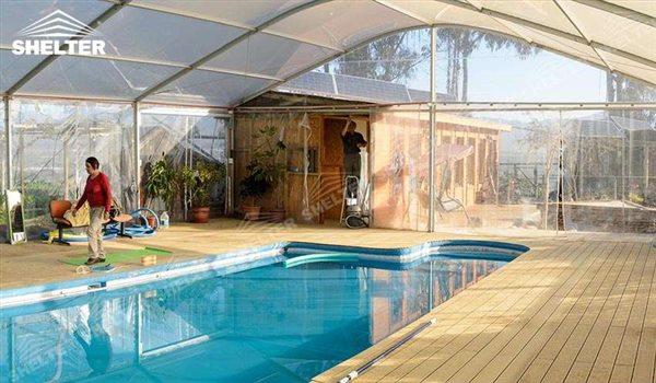 Lona para piscina cubierta para piscina juegos de for Carpas para piscinas