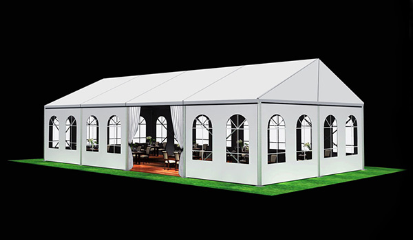 10x20m - SHELTER Wedding Hall - Luxury Party Tent with Glass Window - Reception Catering Tent - M Series-