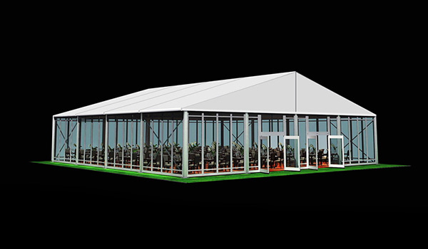 20x20m - SHELTER Wedding Hall - Luxury Party Tent with Glass Window - Reception Catering Tent - M Series-