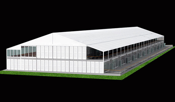 30x120glass wall+abs - SHELTER Two Story Structures - 2 Storey Reception Hall - _副本