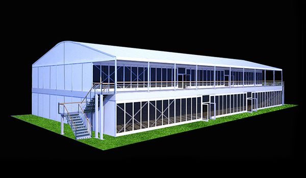 Decker-25x50m - SHELTER Two Story Structures - 2 Storey Reception Hall - Arcum Double