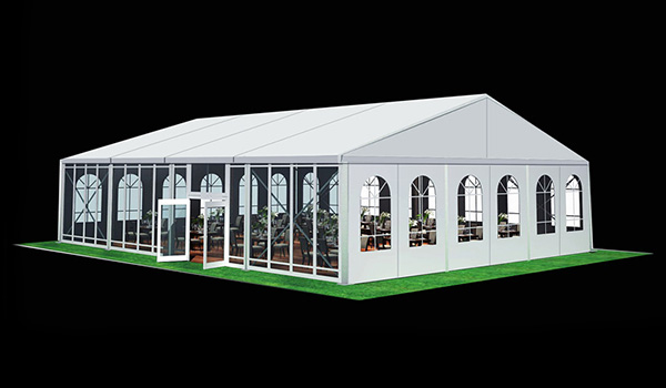 15x20m - SHELTER Wedding Hall - Luxury Party Tent with Glass Window - Reception Catering Tent - M Series-