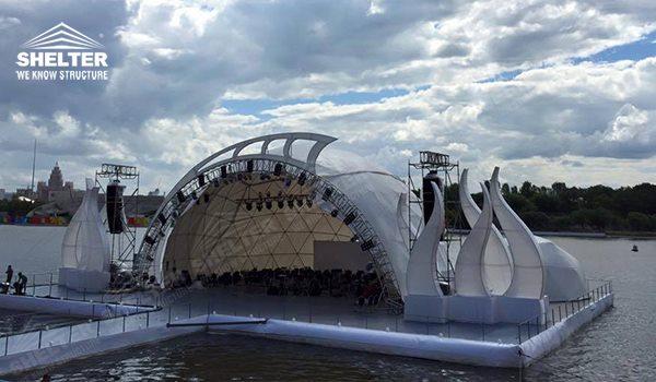carpas dpmo - carpa de cúpula de concierto - carpas estilo domo geodesico - carpas para eventos - tiendas comerciales (711)