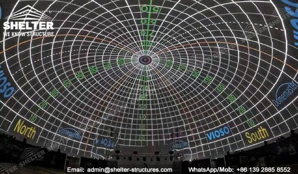 Domo Proyeccion - Domo Multimedia 3D - Domo Educativo - Geometrica domo - cinesphere - Estructuras de domo geodésicas - domo de proyección inmersiva (1)