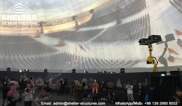 Domo Proyeccion - Domo Multimedia 3D - Domo Educativo - Geometrica domo - cinesphere - Estructuras de domo geodésicas - domo de proyección inmersiva (9)