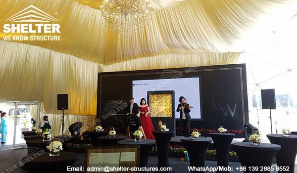 Dia. 15 metros Domos prefabricados para Evento musical - Cúpula de alojamiento en venta 234