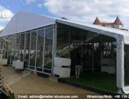 Carpa para Restaurante Con extensión de patio y banquete de interior - 20 x 15 metros (7)