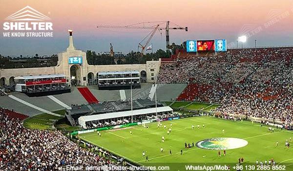 Carpas VIP para Tribunas y Catering de 150 - 200 personas - carpas VIP de doble piso para asientos premium y suites de banquetes para eventos deportivos - 2017 International Champions Cup (2)