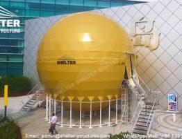 domos prefabricados - Cúpula domo de entretenimiento - Soluccion de teatro cúpula de proyección inmersivo envolvente