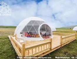 glamping cúpulas de 6m diametros-domo geodésicapara una experiencia única de alojamiento y habitación de 5 estrellas-tiendas glamping para retreat resort hotel (4)