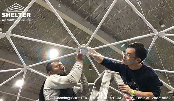 Carpas tipo domos geodésicas en 5m 6m 7m 8m 10m para eventos y habitación ecológica de glamping (1)