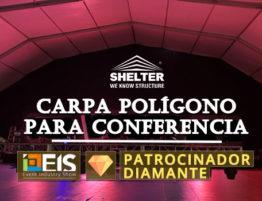 Event-industry-show-EIS-2019---Proveedor-exclusivo-de-tienda-poligonal-para-sala-de-conferencias
