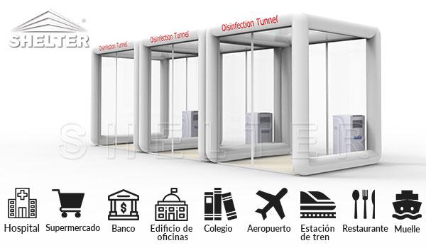 Túnel Sanitizante Para la Desinfección-Hospital-Supermercado-Banco-Edificio-de-oficinas-Colegio-Aeropuerto-Restaurante
